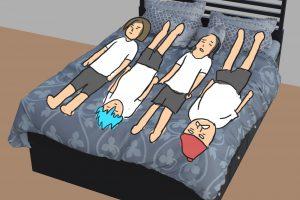 1 14 300x200 - 【DQXI】ドラクエの勇者たちはひとつのベッドにどうやって寝るのか判明! 4人パーティーの寝方(笑)
