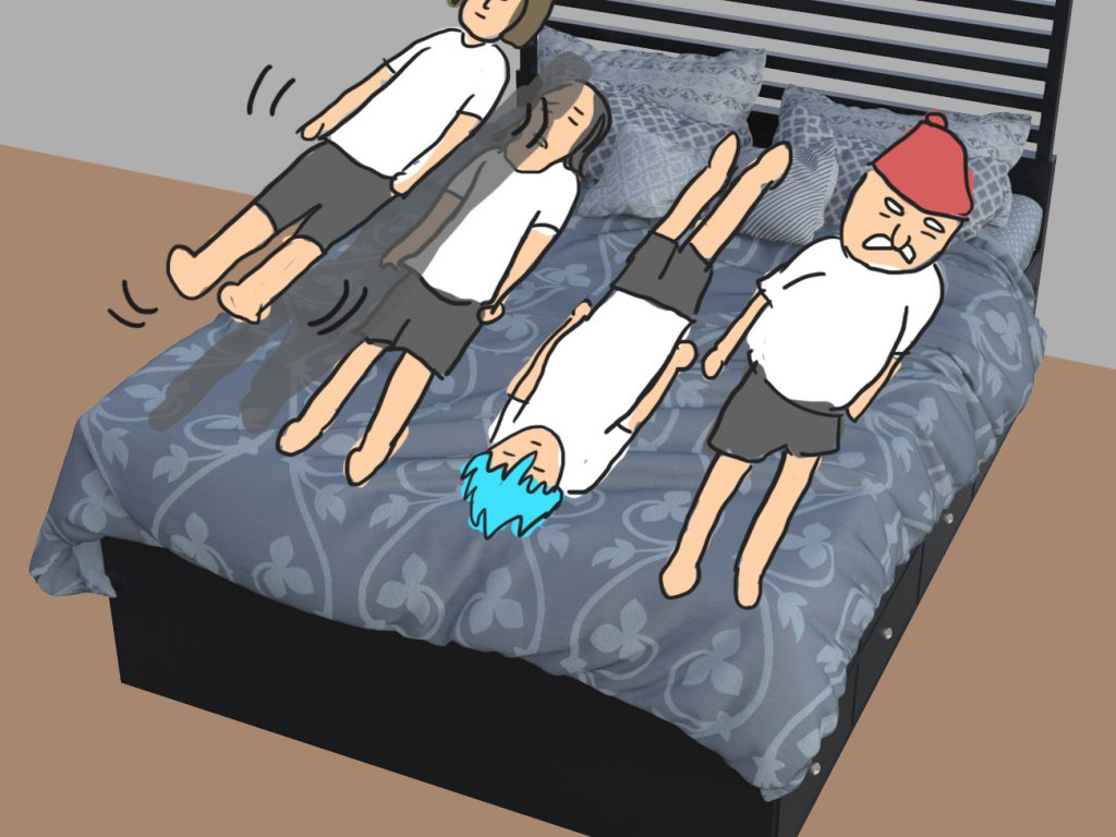 5 5 1024x768 - 【DQXI】ドラクエの勇者たちはひとつのベッドにどうやって寝るのか判明! 4人パーティーの寝方(笑)