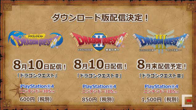 oiulXr1d4II0r 【PS4/3DS】ドラゴンクエストの「I」「II」「III」がPS4とニンテンドー3DS向けに配信決定