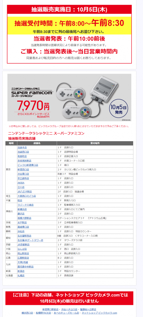 15 1 462x1024 - ミニスーパーファミコン予約情報 イオンで10月5日に抽選販売