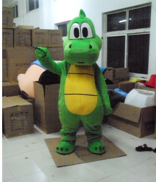 EMS free shipping EVA Cartoon Dinosaur Mascot Cute Animation Green Dinosaur Adult Costumes Performance Novelty Apparel - 【衝撃】ヨッシー、恐竜ではなかった!「スーパーマリオワールド + ヨッシーアイランド篇」