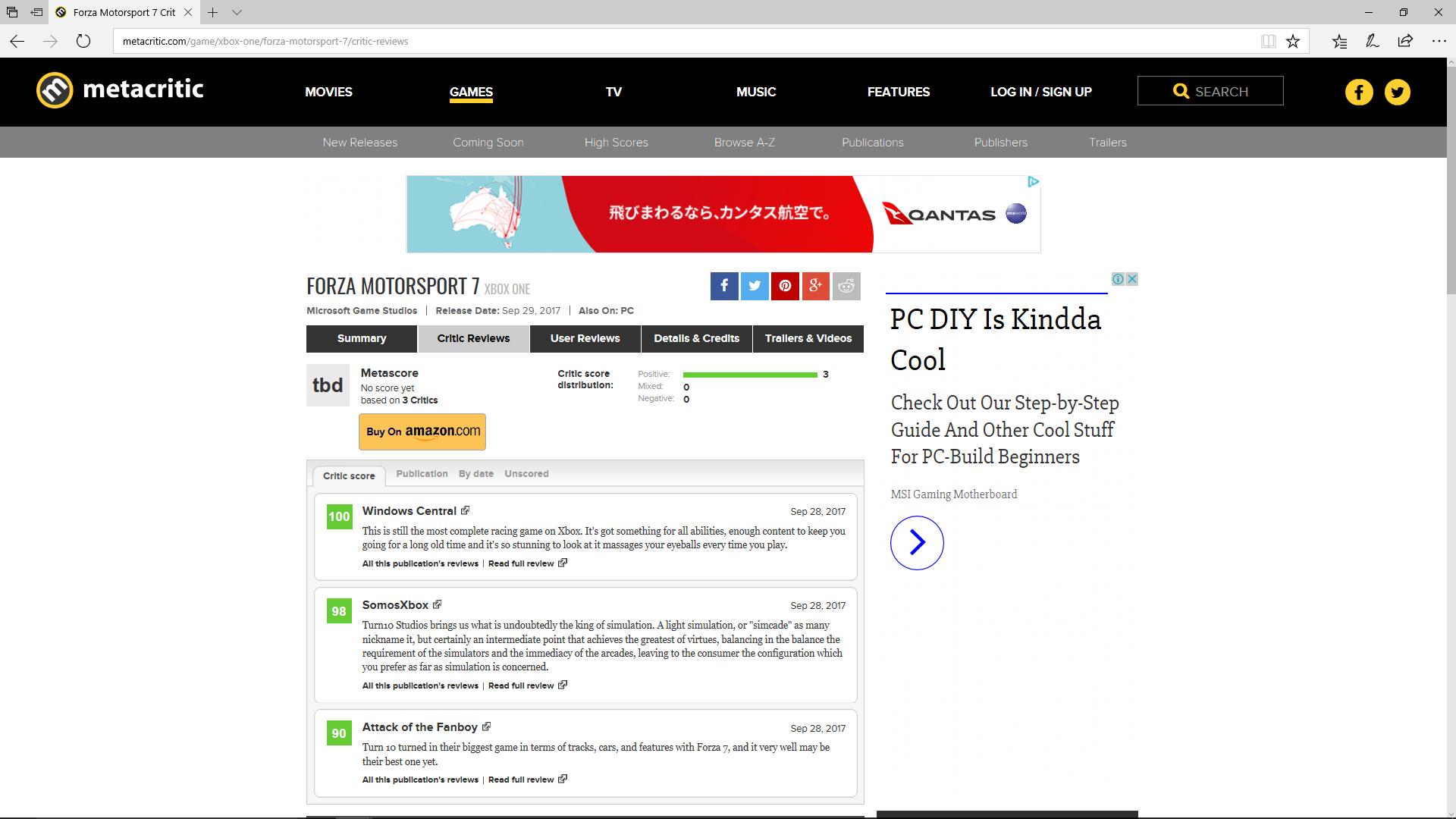 gGburc8VxhYHx - 【Xboxone】フォルツア7いよいよ明日発売!メタスコア高評価で話題沸騰!