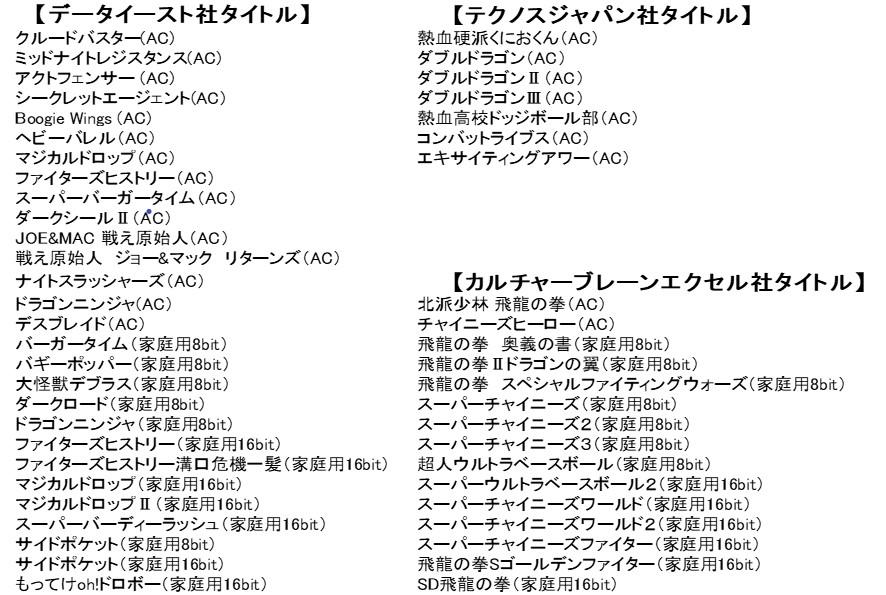 1 53 - レトロゲーム50本内蔵したゲーム機の第三弾「レトロビット ジェネレーション3」が発売。今回はデータイースト、テクノスジャパン、カルブレ特集