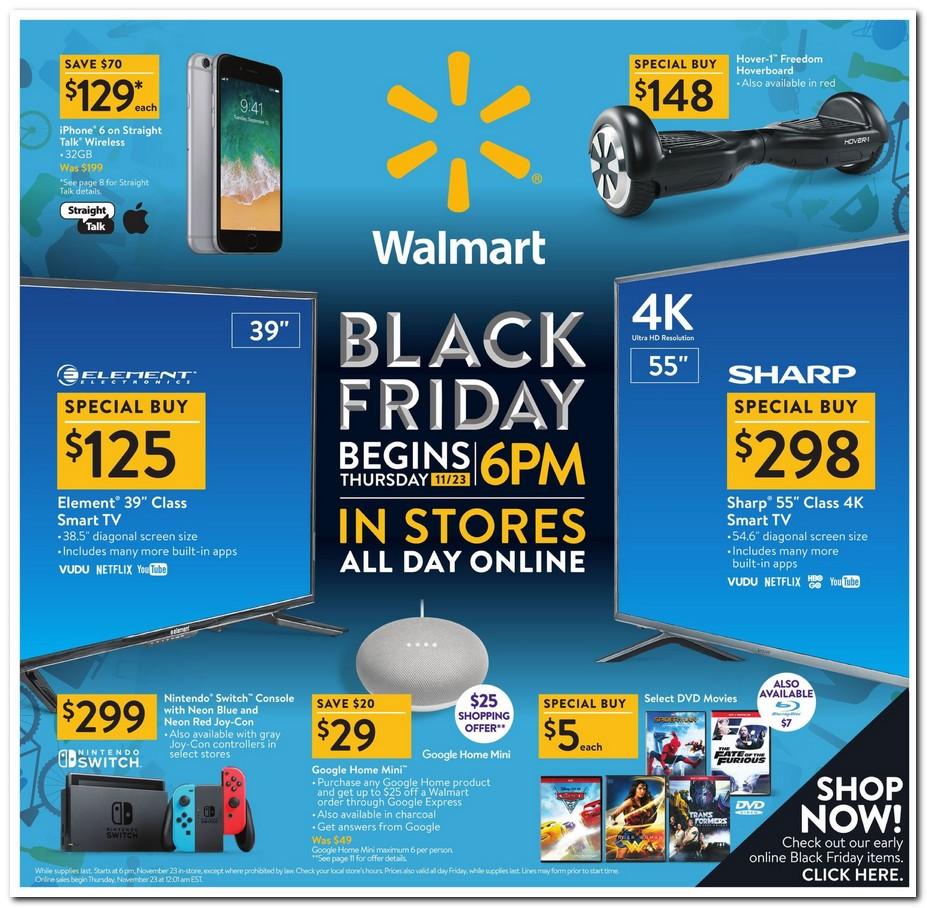 2017bfwal1 - ブラックフライデーでPS4が199ドルに値下げするもウォルマート広告トップはスイッチ