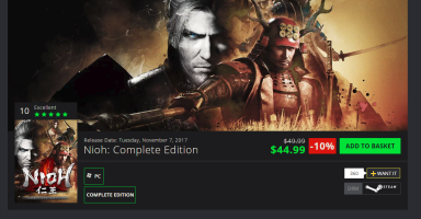 【Steam】本日発売の仁王PC版(DLC全部入り)がGMGでセール中 定価6264円が3689円 or 3920円で買える