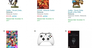 【速報】北米尼チャート、Switch版DOOMとSkyrimが結構売れてる件