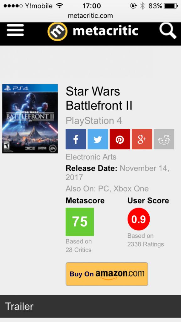 nu2yi4y 577x1024 - 【悲報】Star Wars BattleFront   metacriticユーザースコア0.9/10.0