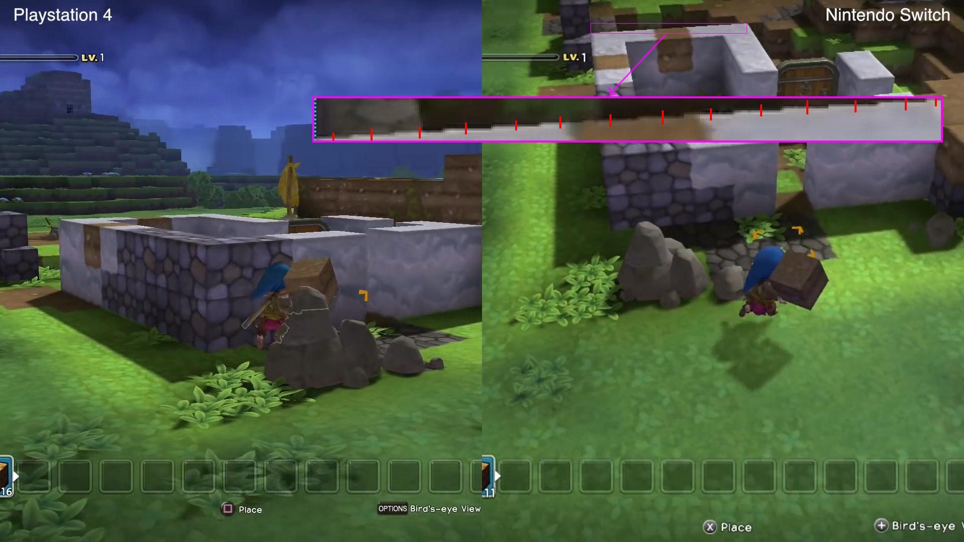 kywyEnrwyZ6Hv - DQB ドラゴンクエストビルダーズ比較動画 PS4 switch