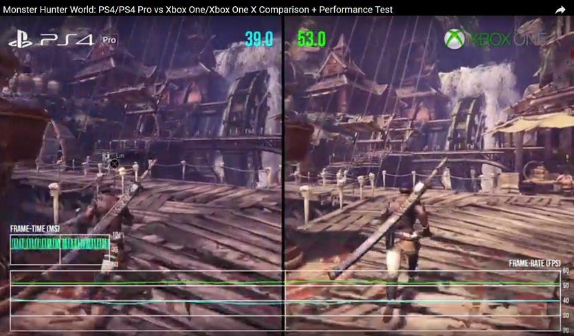 AoiQP9TYtypVk - 【モンハンW】PS4Pro・XboxOneXのDFによる比較動画が公開!