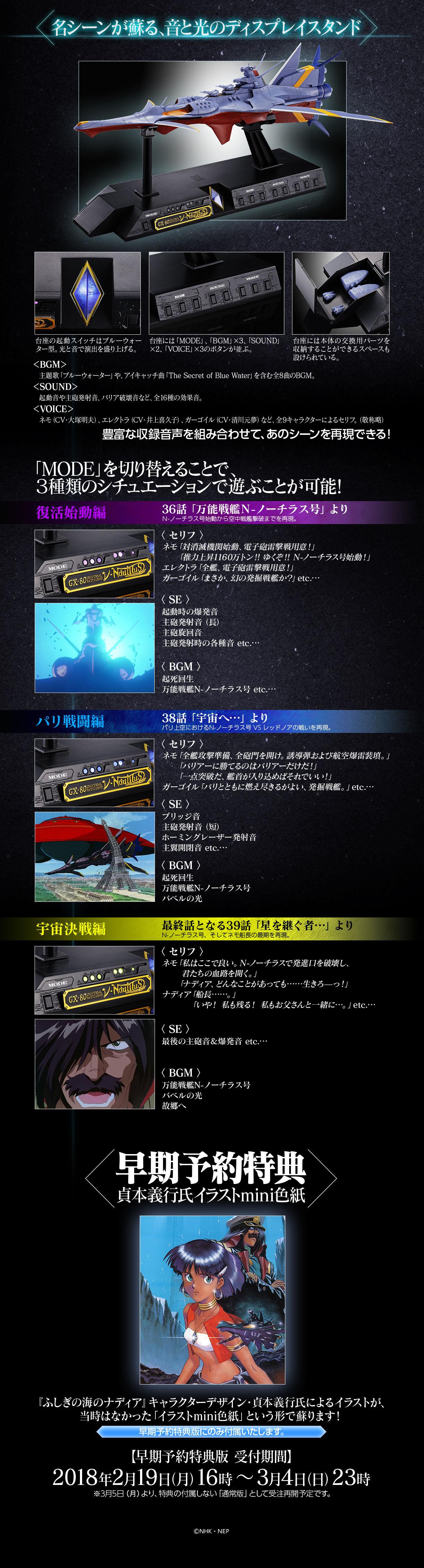 PeAOH2BjzMtLd - 【ふしぎの海のナディア】超合金魂 N-ノーチラス号キタ――(゚∀゚)――!!