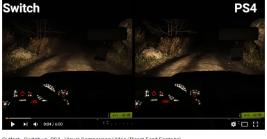 f81fd2e4c52864042852c112ce927ae2 2 384x200 - OutlastのSwitch版とPS4版の比較動画が公開!!!Switchすげえええええええ!!!!
