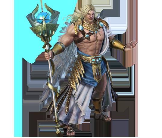 1-8 無双シリーズに西洋の神々「ゼウス」「アテナ」「ペルセウス」が参戦。変形する大盾「イージス」で敵をやっつける