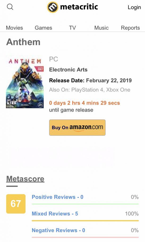 "G00CPTE 614x1024 - AAA超大作『Anthem』大手ゲームサイトGameSpotが""6/10点""と大酷評"