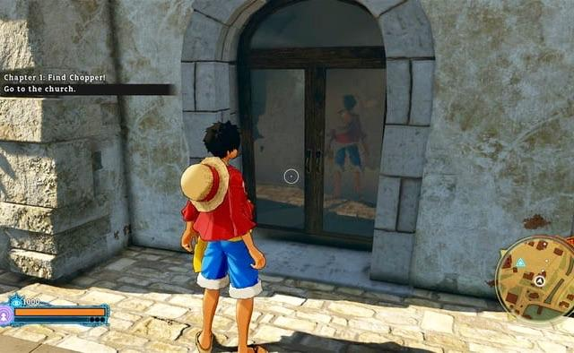 【速報】漫画ワンピースのPS4最新作ゲーム 鏡に自分の後ろ姿が写ってしまい炎上