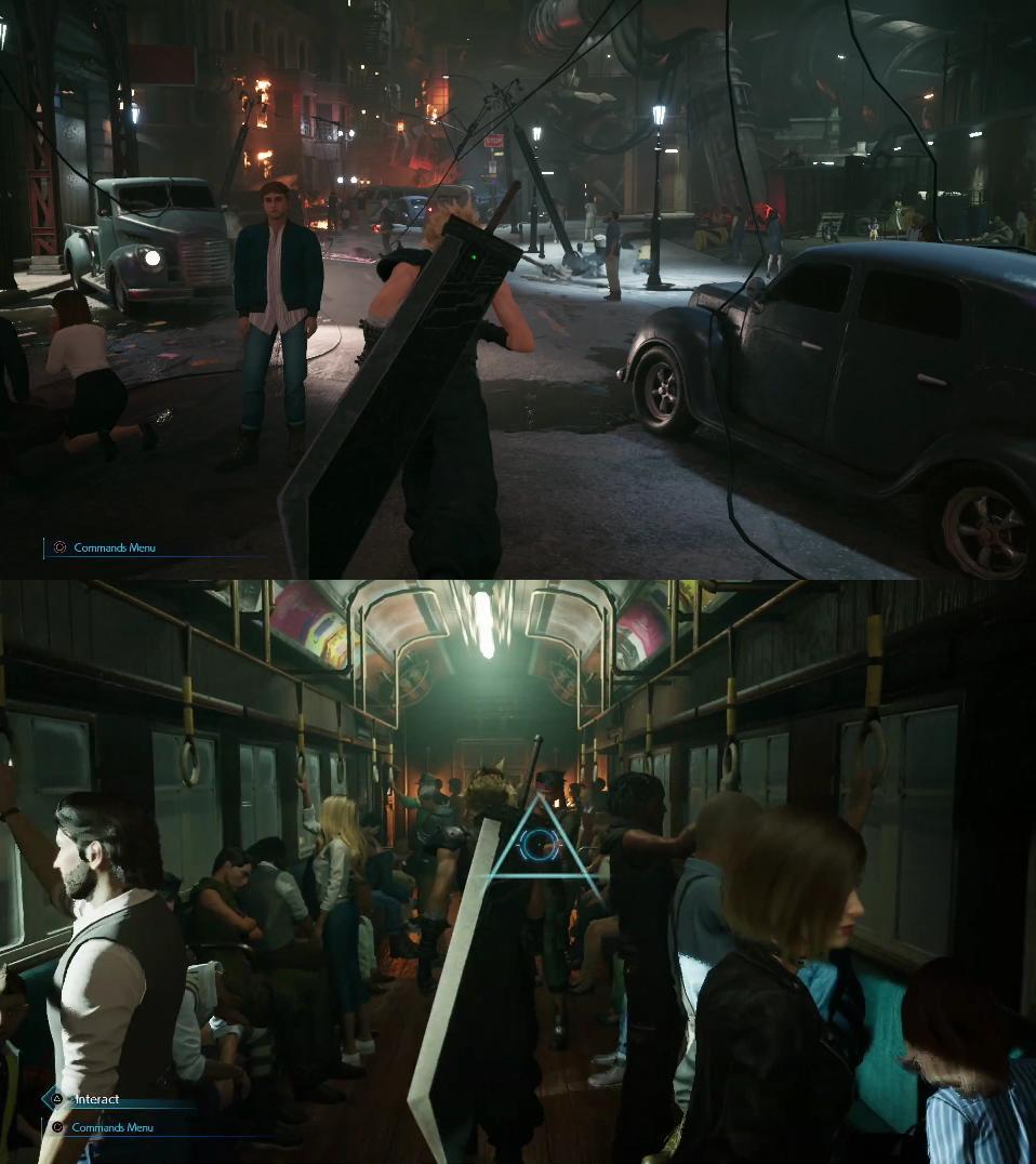 G9pTERx - 【悲報】FFのクラウドさん、街中でバスターソードを背負って闊歩する