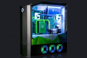1 49 300x200 - 全家庭用ゲーム機とゲーミングPCを一台に融合させた究極のパソコンが登場。PS4ProとXbox One、スイッチを本格水冷PCにドッキング
