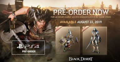 DXC6iRcD 384x200 - 【PS4】MMORPG「黒い砂漠」の発売日が8月23日に決定!!