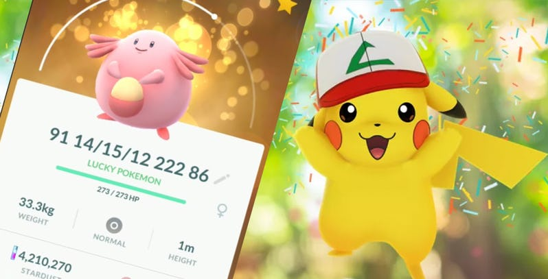 Lucky Pokemon Pokemon Go Niantic - 【朗報】ポケモンGoが再び圧倒的な成功、ダウンロード数が10億を突破する