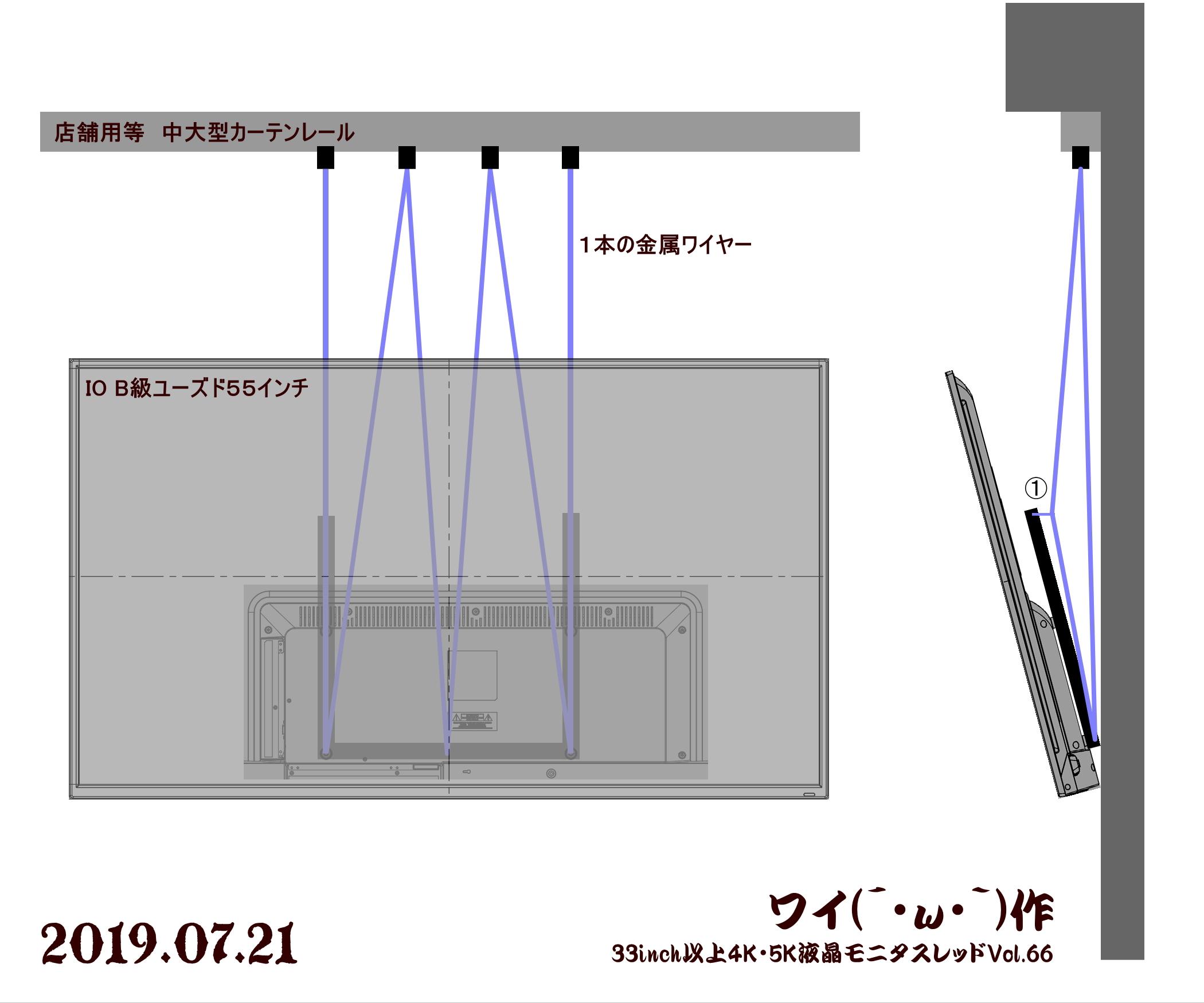 1563648734944 - 【画像】PCスレ民、とんでもない方法でモニターを設置してしまう