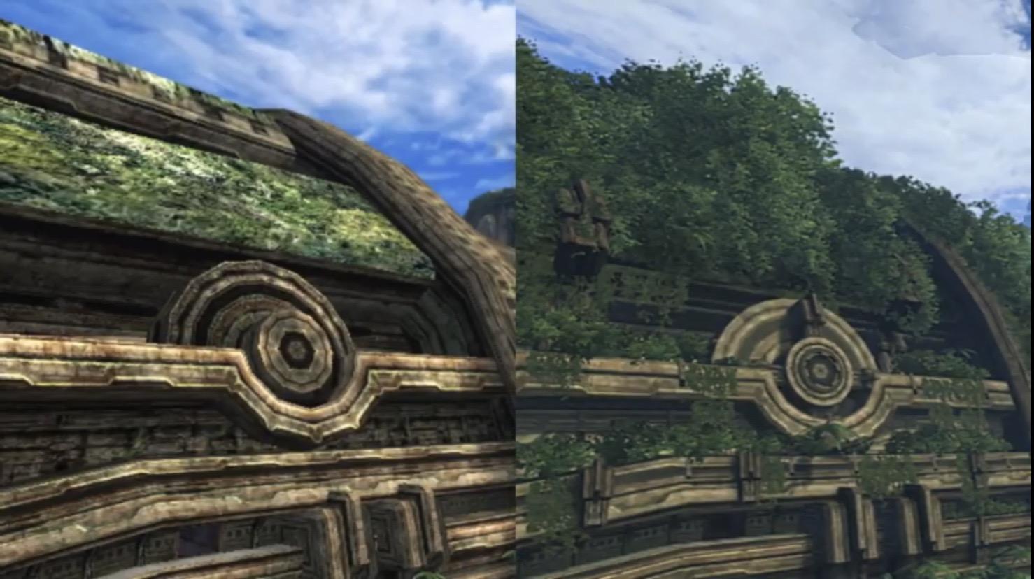 2Qbs77J - 【朗報】ゼノブレイドDE、正確な画像比較によりフィールドも全面的に作り直されていたと判明する