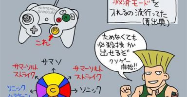 E61pegA 384x200 - 格ゲー「ここのコマンドは←↙↓↘→+pで必殺技が出るで!」彡(^)(^)「余裕で草」