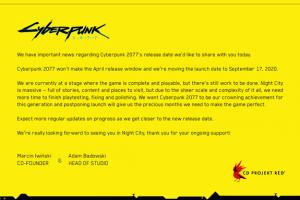 EOa2ITXW4AAbcag 300x200 - PS4『サイバーパンク2077』4/16→9/17に5ヶ月発売延期