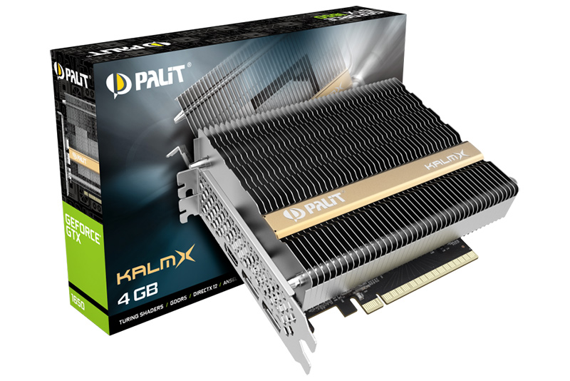 01 - Palit、ファンレスGTX1650発表
