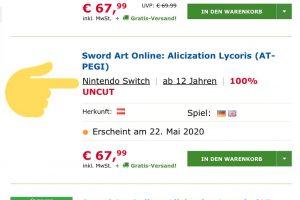 PDi56mf 300x200 - バンナム「SAOリコリスのSwitch移植は無理」→オーストリアの小売サイトにSwitch版掲載