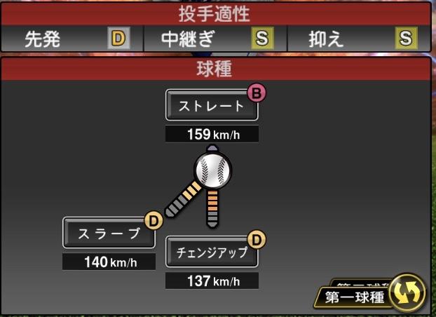 bzvKW65 - プロスピAの投手の球種とポジション適正で誰かを当てるスレ