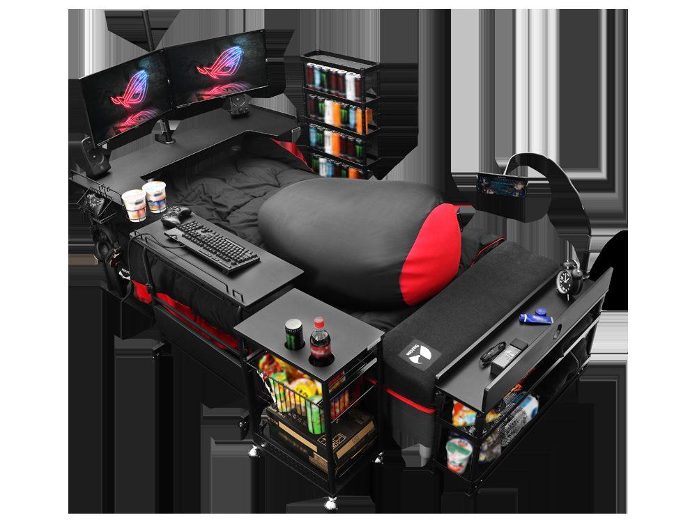 concept gaming bed 4 1 - 日本製の「ゲーミングベッド」が最強と話題