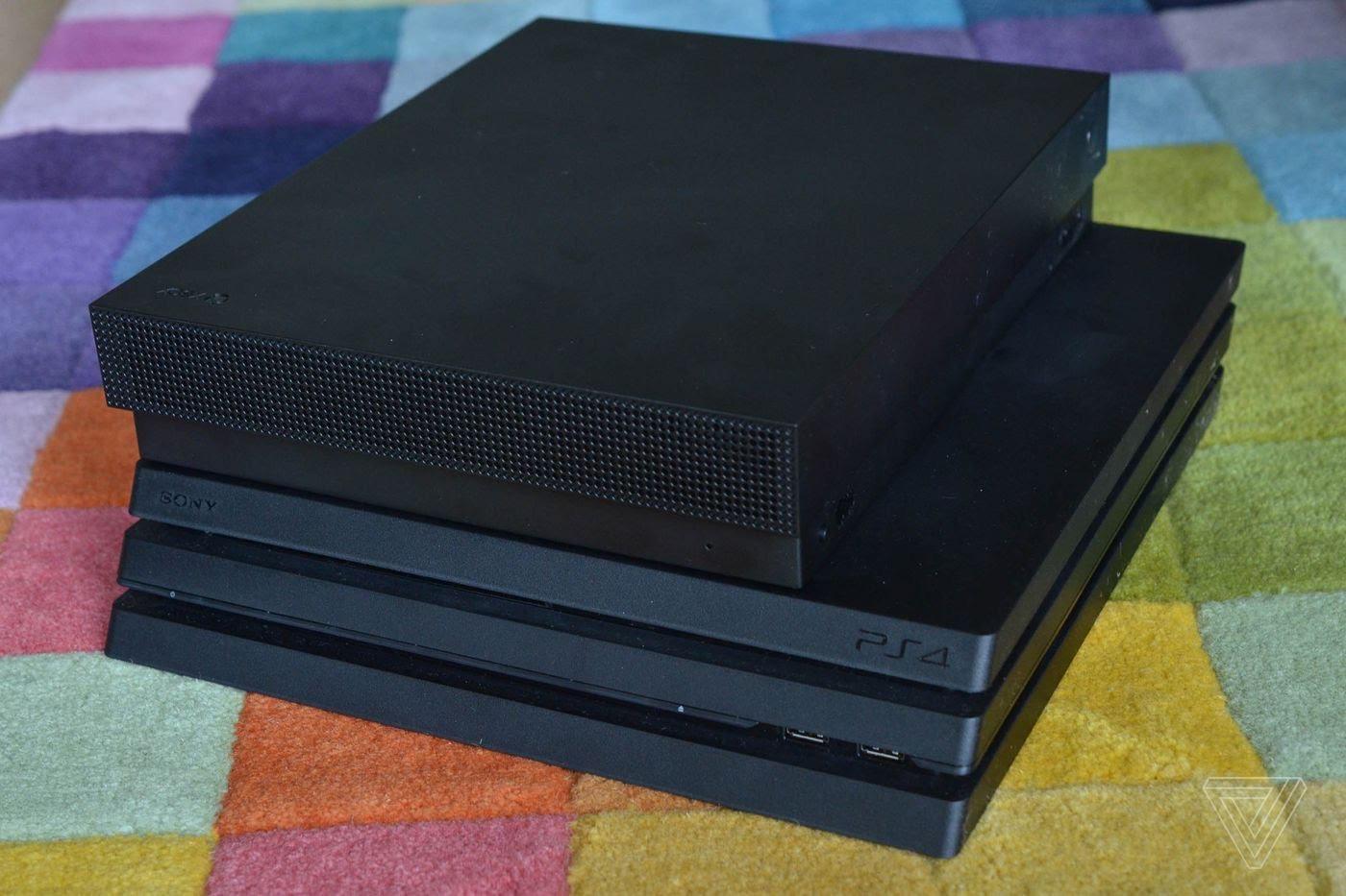 5Q18SCf - PS4Proの筐体がXboxONEXよりデカイのってなんでなん? 普通性能が低い方が小さいだろ?
