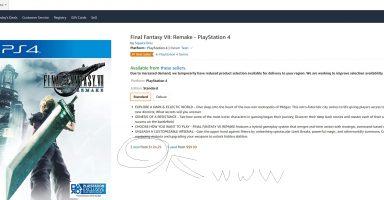omMxTh9 384x200 - 【世界的超人気】FF7Rさん、全米で売り切れ続出、124.29ドルで転売されてしまう【需要沸騰w】