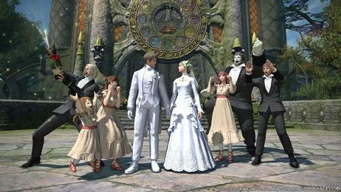 b1d82812 s - 【悲報】FF14民「他人のエタバン(ゲーム内の結婚式)に白いドレス着てくる非常識なメスキャラ」で大論争が起こってしまう