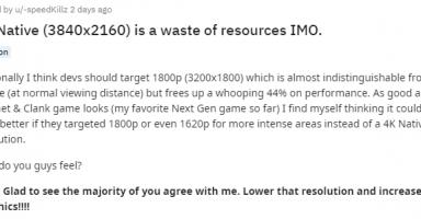 f81fd2e4c52864042852c112ce927ae2 3 384x200 - 外人「XboxSXですら4K60fpsが無理なら、1800pか1440pで十分じゃね?」