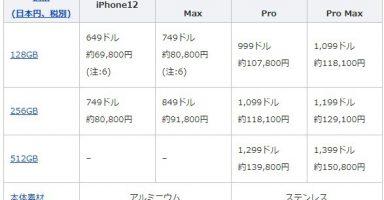 1 19 384x200 - iPhone12ミニ 128GB 6万9800円と判明