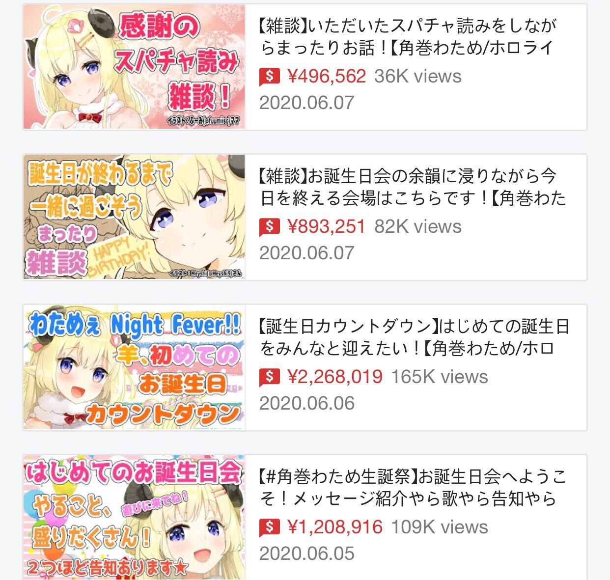10 8 - 美少女Vチューバー 誕生日に480万円の投げ銭 手抜きでもこれだけ稼げる