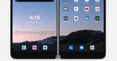 13 384x200 - 【悲報】Microsoftの2画面Androidスマホ、お値段15万円!
