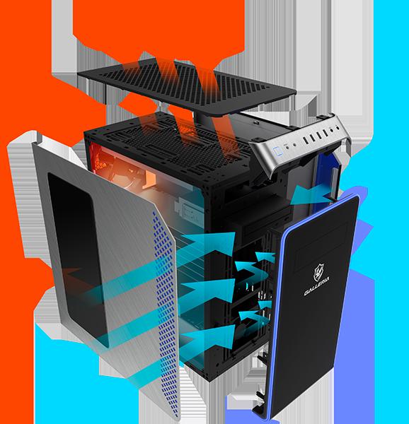 sk airflow - 【朗報】ドスパラさん、こういうのでいいんだよって感じの10万円ゲーミング PCを発売
