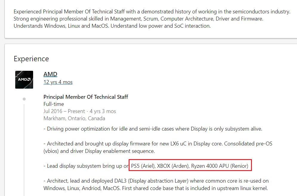 EhMvBe6VgAEhORm - 【悲報】AMD社員、LinkedInでPS5のAPUコードネームをバラしてしまう